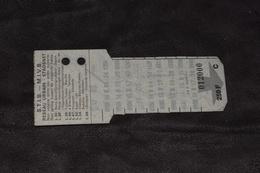 Ticket Tram STIB MIVB C 250 Francs 10 Voyages - Tram