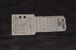 Ticket Tram STIB MIVB M4 210 Francs 10 Voyages - Tram