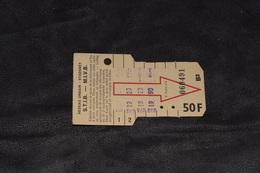 Ticket Tram STIB MIVB B2 50 Francs 6 Voyages - Tram