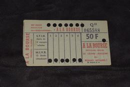 Ticket Tram STIB MIVB Q21 50 Francs 13 Voyages - Tram