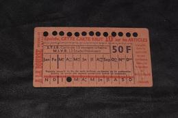 Ticket Tram STIB MIVB F23 50 Francs 13 Voyages - Tram