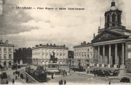 BELGIQUE - BRUXELLES - Place Royale Et Eglise Saint-Jacques. (n°13). - Marktpleinen, Pleinen