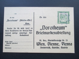 Österreich Um 1910 Ganzsache / Privatganzsache Stempel: Stern / Sternkreis. Dorotheum Briefmarkenabteilung. Auktion - 1850-1918 Imperium