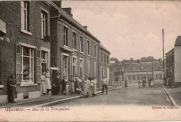 Cpa Belgique Hainaut WASMES Rue De La Joncquière, Très Animée, Peu Courante, Dos Vierge - Belgium
