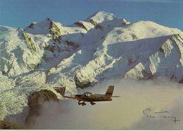 CPM Survol Touristique Du Massif Du Monr Blanc, Air Mont Blanc - Sallanches