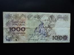 PORTUGAL : 1000 ESCUDOS  26.7.1990   P 181g    B+ * - Portugal