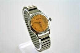 Watches : PRONTO VERDAL TROPIC DAIL INCABLOC HAND WIND  WITH FIXOFLEX - Original - Running - Worn Condition Dial Damaged - Montres Haut De Gamme
