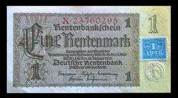 # # # Banknote DDR (Eastgermany) 1 Rentenmark Mit Koupon (Marke) 1948 UNC # # # - [ 6] 1949-1990 : GDR - German Dem. Rep.