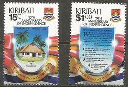 Kiribati - 1989 Independence Anniversary MNH **   SG 303-4  Sc 515-6 - Kiribati (1979-...)