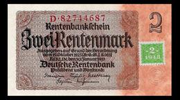 # # # Banknote DDR (Eastgermany) 2 Rentenmark Mit Koupon (Marke) 1948 UNC # # # - [ 6] 1949-1990 : GDR - German Dem. Rep.