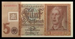 # # # Banknote DDR (Eastgermany) 5 Rentenmark Mit Koupon (Marke) 1948 UNC- # # # - [ 6] 1949-1990 : GDR - German Dem. Rep.