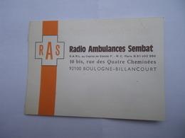 Radio Ambulances Sembat R.A.S. Boulogne Billancourt - CX DS Citroën - Automobile