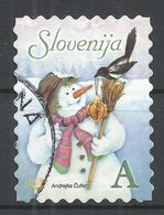 Slovenia 2006. Scott #684 (U) Christmas, Snowman And Bird * - Slovénie