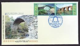 Armenien / Armenie / Armenia / Artsakh / Karabakh 2018, EUROPA CEPT,Bridge Jarvanes XIII C, Karavaz VII C - FDC - Armenia