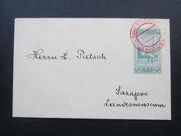Bosnien / Österreich GA P 17 Roter Stempel: K Und K Milit. Post 3. VI. 10 Sarajevo. Patsch Landesmuseum - Bosnien-Herzegowina