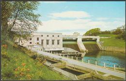 Power House & Salmon Ladder, Pitlochry Dam, Perthshire, 1974 - Postcard - Perthshire