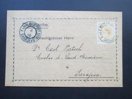 Bosnien / Österreich 1900 Drucksache Nr. 12 EF Technischer Klub Sarajevo. Dr. Carl Patsch Custos Landesmuseum - Bosnien-Herzegowina