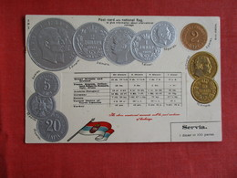Embossed Gold And Silver Coins From  Servia  Serbia Ref 2908 - Serbien