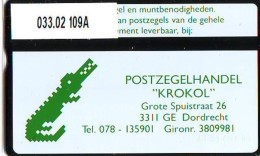 Telefoonkaart  LANDIS&GYR  NEDERLAND * RCZ.033.02  109a *   KROKOL * TELEFONKARTE * ONGEBRUIKT * MINT - Nederland
