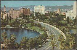Wilshire Boulevard, Los Angeles, California, C.1940s - Union Oil Co Postcard - Los Angeles