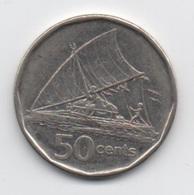 Fidji : 50 Cents 2009 : QEII Voilier - Fiji