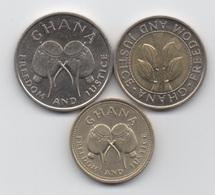 Ghana : Lot De 3 Pièces 1991-1996 - Ghana