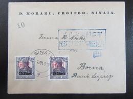 Brief M.V.i.R. Militärverwaltung In Rumänien 1918 Sinaia - Postüberwachungsstelle - 15 Pf. - Besetzungen 1914-18