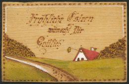 Ansichtskarte   -  Aus Holz Gefertigt  Gelaufen - Ostern