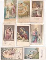 LOT DE 8   IMAGES PIEUSES  ANCIENNES  ACHAT IMMEDIAT - Devotion Images