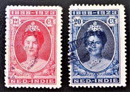 25 ANS DU REGNE DE LA REINE WILHELMINE 19+23 - OBLITERES - YT 144/45- MI 150/51 - Niederländisch-Indien