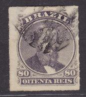 Brazil 1877 Mi. 33      80 R Kaiser Pedro II. - Usados