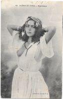 SCENES ET TYPES - Mauresque - Jeune Fille Au Sein Nu - Bijoux - Beauté Orientale  -carte Expédiée De Bizerte En 1916 - Tunesien