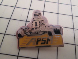 PIN1015c Pin's Pins / Rare Et Beau : SPORTS / KARTING APSM - Badges