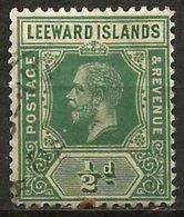 Leeward Islands - 1912 King George V 1/2d Used   SG 47a  Sc 47 - Leeward  Islands