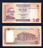 BANGLADESH  -  2012  5 Taka  UNC Banknote - Bangladesh