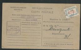 Carte De Ravitaillement Général , Cachet Mairie De Saint Germier , Dpt 79 En Sept 1946    - Fab4908 - Marcofilie (Brieven)