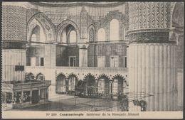 Intérieur De La Mosqée Ahmed, Constantinople, C.1905-10 - CPA - Turkey