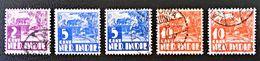 EMISSIONS 1934/37 - OBLITERES - YT 181 + 185 + 187 - VARIETES DE TEINTES ET D'OBLITERATIONS - Niederländisch-Indien