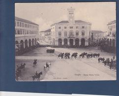 ONEGLIA  ( IMPERIA )  CARTE DOUBLE Non Pliée  -  Piazza Maria TERESA - Imperia