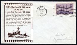 """US Navy, USS""""H.R.DICKSON"""" (DD-708) Launched 1944, Look Scan, RARE !! 1.4-29 - Barcos"""