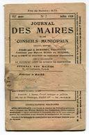 FRANCE- Journal Des Maires Et Des Conseillers Municipaux- 62ème Année- Juillet 1920 (avec Sa Bande Journal) - Newspapers
