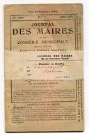FRANCE- Journal Des Maires Et Des Conseillers Municipaux- 61ème Année- Juillet 1919 (avec Sa Bande Journal) - Giornali