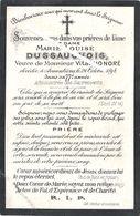 Image Mortuaire - Iwuy - Armentières - DUSSAUCHOIS Marie Louise (épouse HONORE Vital Guislain) - Décès