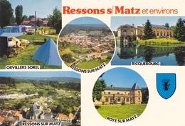 60 RESSONS SUR MATZ ET SES ENVIRONS / MULTIVUES / BLASON - Ressons Sur Matz