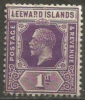Leeward Islands - 1922 King George V 1d Unused No Gum  SG 61  Sc 64 - Leeward  Islands