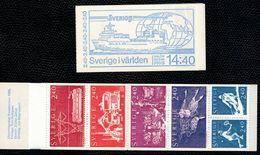 Svezia Sweden Schweden Suede 1981 Booklet Carnet Sweden In The World 6v Complete Set  ** MNH - Svezia