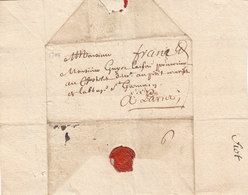 France 1704-1707 Three Entire Letters Dijon Pour Paris (q77-79) - Postmark Collection (Covers)