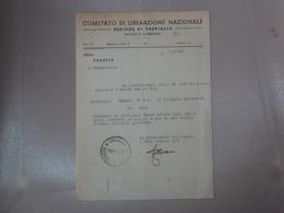 DOCUMENTO PARTIGIANI C.L.N. COMITATO DI LIBERAZIONE NAZIONALE DI TREVIGLIO BERGAMO - Sin Clasificación