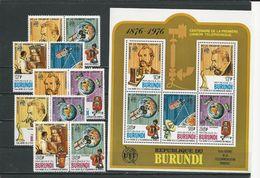 BURUNDI  Scott 511-513, C253-C254, C255 Yvert 731-736, PA441-PA444, BF100** (10+bloc)  O Et ** Cote 21,00 $ 1977 - Burundi