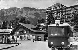 "07556 ""SVIZZERA - VAUD - VILLARS S/OLLON ALT. M. 1260"" ANIMATA, TRAMWAY. PHOT. O. SARTOTI. CART  SPED 1952 - VD Vaud"